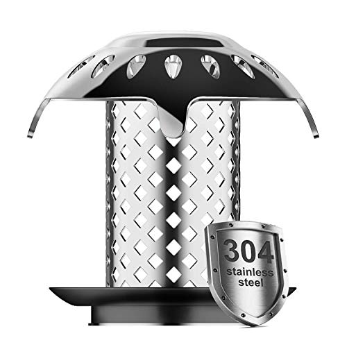 AutoMust Bathtub Drain Hair Catcher & Strainer - Tub Bathtub Drain Protector Hair or Pet Fur Collector Cover 304 Stainless Steel Anti-rust, Fast Water Tub Drain No Mold Support Drain, Sizes from 1.5''