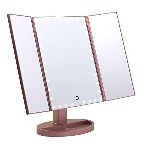 Impression Vanity Makeup Vanity Touch Trifold XL Dimmable LED Makeup Mirror (The Best Of The Impressions)