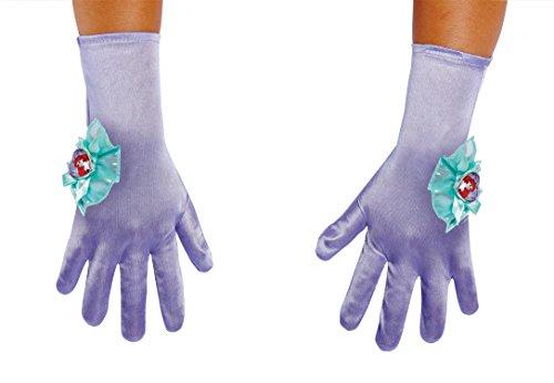 Ariel Child Gloves, One Size - Disney Princess Ariel Pink Dress Costume