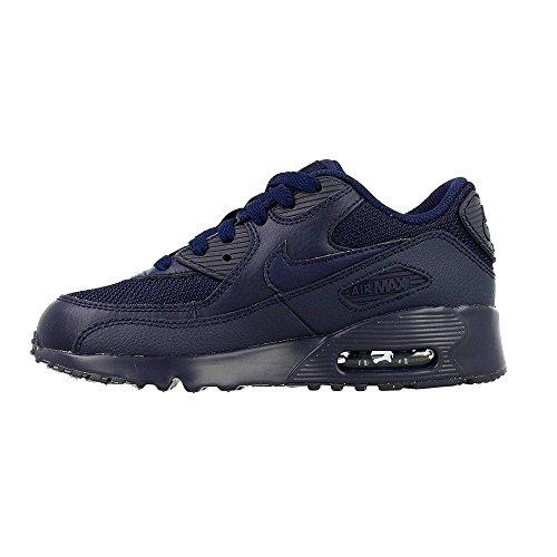 Nike Air Max 90 Mesh (Ps), Zapatillas de Running para Niños Azul (Obsidian / Obsidian)