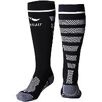 Sportlast Pro Calcetines de compresión, Negro/Blanco, L