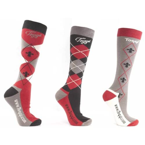41ZEQP0UA8L. SS500  - Toggi Women's Chestermere Socks (Pack of 3) 4-8, Black, Size 4-8