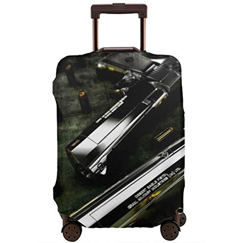 (Travel Luggage Protective Covers Gun And Bullet Elastic Zipper Thickened Resistant Scratch Dust Proof Washable Suitcase Cover)
