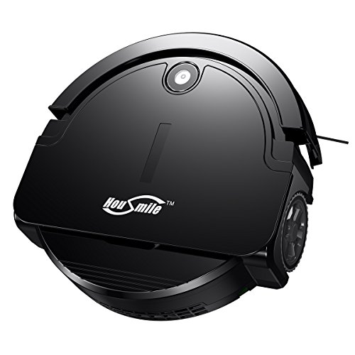 Housmile Robotic Vacuum Cleaner with Drop-Sensing Technology and Powerful Suction, for Hard Floor and Low-pile Carpet