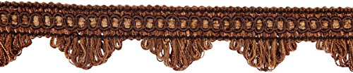 DÉCOPRO 11 Yard Value Pack of Decorative Mocha Scallop Fringe Gimp Braid, 1.5 Inch, Style# SF0150 Color: Brown DB2 (33 Ft. / 10 Meters)