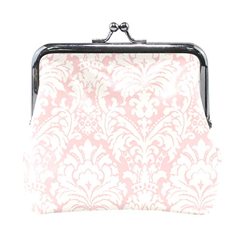 Coin Purse Simple Pink Damask Womens Wallet Clutch Bag Girls Small Purse ()