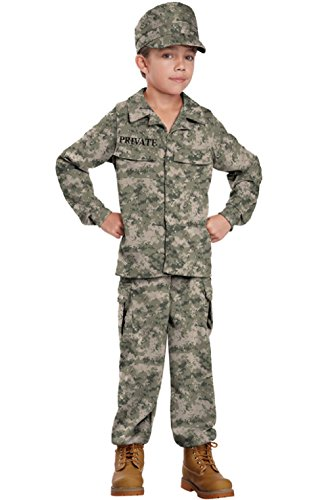 Child Colonial Soldier Costume (Army Marines Military Soldier Uniform Child Costume)
