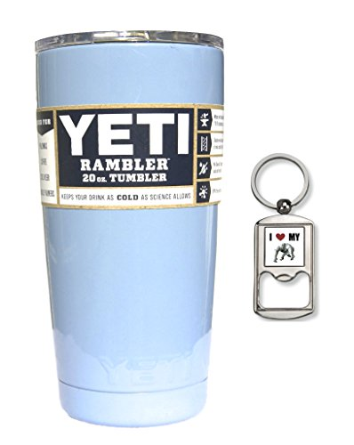 Colored Yeti Rambler Tumbler (20 oz, Carolina Blue)