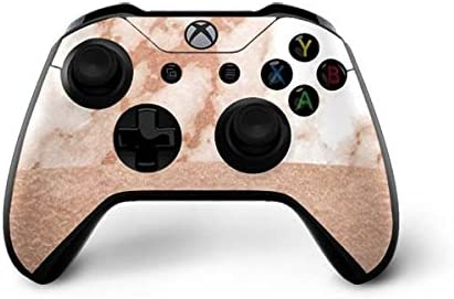 Amazon Com Skinit Decal Gaming Skin Compatible With Xbox One X Controller Officially Licensed Originally Designed White Rose Gold Marble Design Electronics