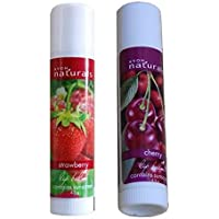 Avon Naturals Strawberry & Cherry Lip Balm (Set Of 2)