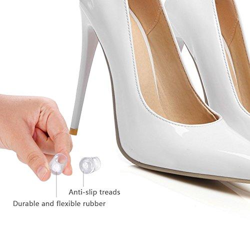 84eff96b04a 12 Pairs High Heel Protectors Heel Repair Caps Rubber Heel - Import ...