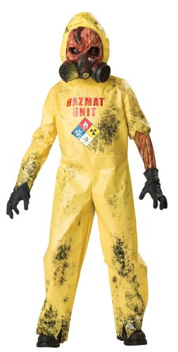 Hazmat Hazard Scary Child Costume (Scary Girl Costumes Child)