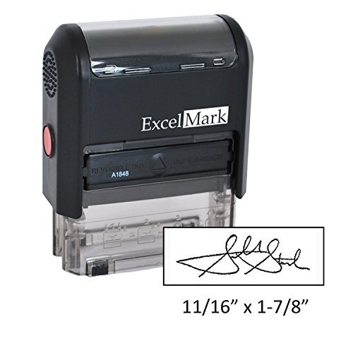 Custom Signature Stamp - Self Inking - Black Ink (Small)
