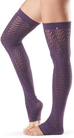 ToeSoxレディースAva Knee High Leg Warmers forダンス、ヨガ、ファッション One Size パープル