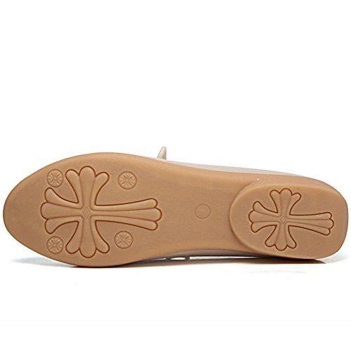 de Beige Cuero DoraTasia Cordones para Mujer Zapatos de 1 q8t8FS