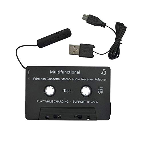 Carismatic 3.5mm Stereo Plug Universal Audio Cassette Adapter for iPhone/Android/Smartphones - Black