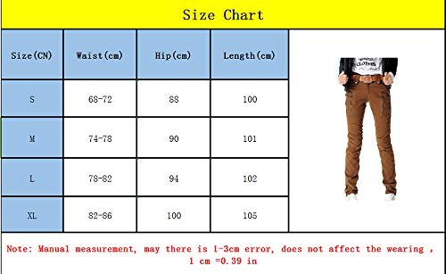 pantaloni cerniera maniche Kbwin autunno lunghe doppia a primavera lavoro pantaloni Marrone a Pantaloni allentati da e a maniche lunghe rqrvCPT