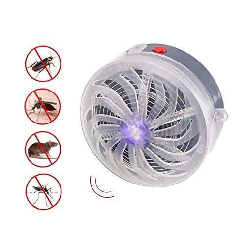Lámpara De Mosquito Zumbido Alimentado Por Energía Solar Lámpara Uv Luz Insecto Mosca Mosquito Lámpara Asesina De…