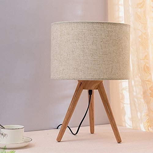 Table luminaires holzfuß tissu parapluie de Petites lampes pour rebord de fenêtre dessert Lampes