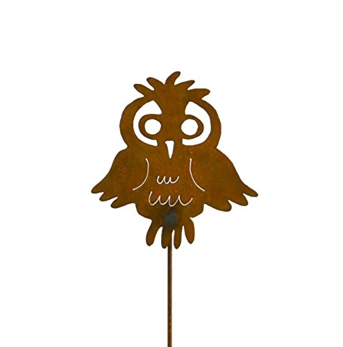 Cute Owl Rusty Metal Garden Stake