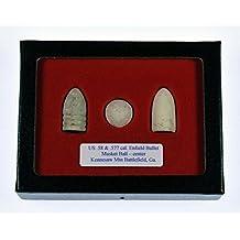 3 Civil War Bullet display
