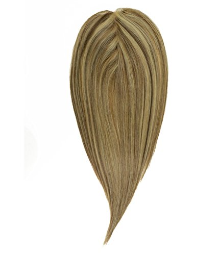 Uniwigs Remy Human Hair Silk Top Closure Straight Hair Topper Pieces For Hair Loss, Natural hairline (Y-4818) by uniwigs