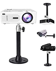 Universal Ceiling Projector Mount,Hanger 360° Rotatable Head with Length 7in/180mm Projection for Mini Projector CCTV DVR Camera Black …