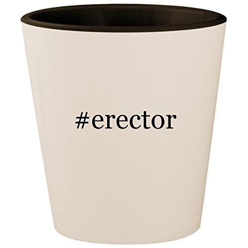 #erector - Hashtag White Outer & Black Inner Ceramic 1.5oz Shot Glass ()