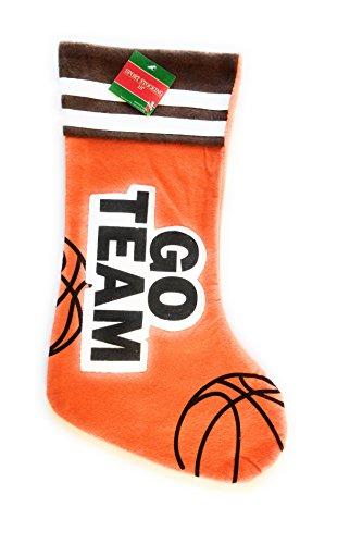 Sports Felt Applique 18in Stocking (Basketball)