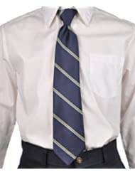 Cookie's Brand Adjustable Banded Necktie with Clip - navy/gold, 14""