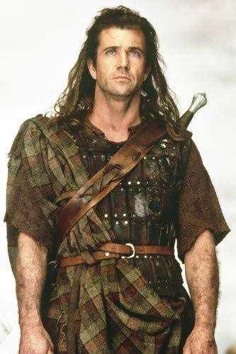 24x36 Mel Portrait In Iconic Scottish Gibson Braveheart Costume dCBoxer