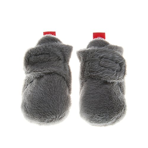 Pidoli Unisex-Baby Newborn Soft Fleece Bootie Infant/toddler (0-3month, Grey) - Preemie Booties