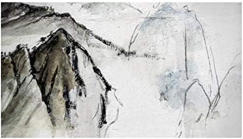 N/B GIFHDGUFI32 Moderne minimalistische chinesische abstrakte Tintenlandschaftsmalerei-Tapete