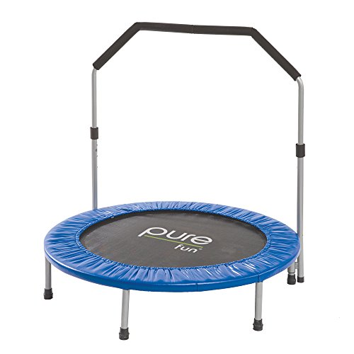 """Pure Fun 40"""" Mini Rebounder Trampoline with Adjustable Handrail, Ages 13+"""