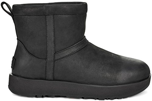 UGG Womens Classic Mini L Waterproof Rain Boot Black Size 8 (Women Sale Ugg)