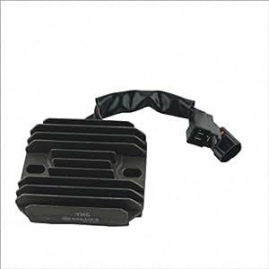 Yhc-Sh640Eb Universal Motorcycle Body & Frame Plastic Rectifier Voltage Regulator - Black