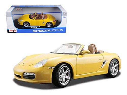 (Porsche Boxster S Yellow Diecast Model 1/18)