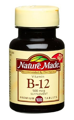 Nature Made Vitamine B-12, 500 mcg (100 comprimés)