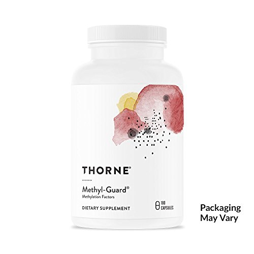 Thorne Research - Methyl-Guard - Methylation Support Supplement with Folate and Vitamin B12-180 Capsules Gluten Guard