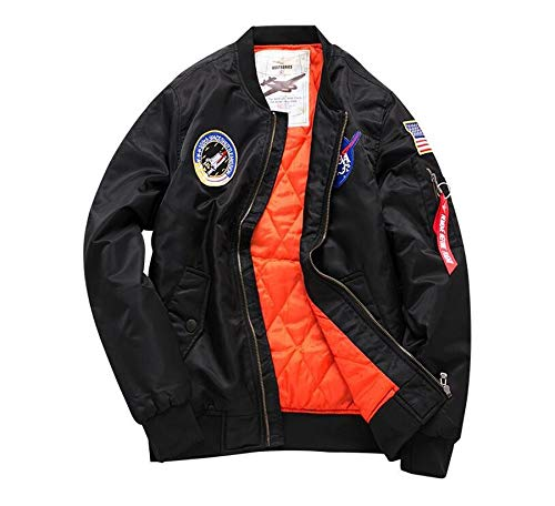 ab7e315af Amazon.com: Army Air Force Fly Pilot Jacket Military Airborne Flight ...