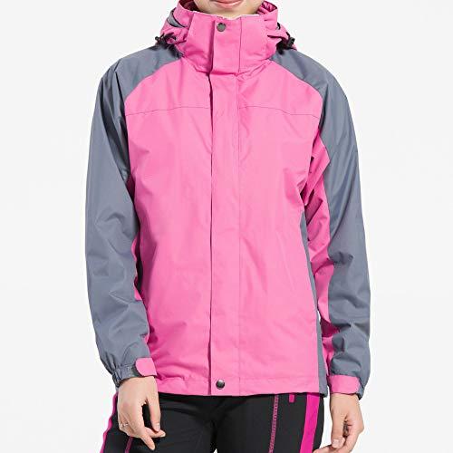 Coulisse Donna Da Abbigliamento Sci Sportivo Per Impermeabile Pink Cappuccio Giacca Jingrong Con qFA0XXvw