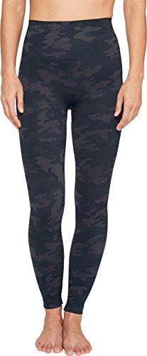 (SPANX Women's Seamless Print Leggings Black Camo Pants)