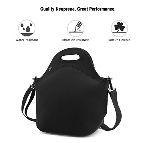 Nuovoware Neoprene Lunch Tote Insulated Picnic Bag Soft Thermal Cooler w// Strap