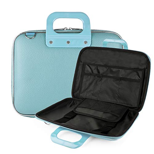 "Vegan Leather Weekend Carryall [Aqua] Removable Shoulder Strap 9"" to 10.5"" Portable DVD Players -  Best Price Center, AS_NBKLEA543_PRTDVD"