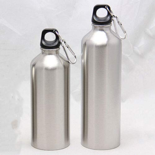 Price comparison product image Portable Aluminum Water Bottles Flask Double Wall Vacuum Insulated Bottle Sports Travel Climbing - Water Bottles