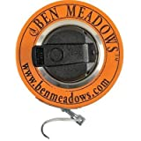 Ben Meadows White Enameled Steel Diameter Tape, 3/8''W Claw Hook, 5m/160cm