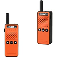 1 piece (orange) ELIDA T-M2 radio super small portable professional FM transceiver walkie talkie two way radio 16 channel 400-520MHZ