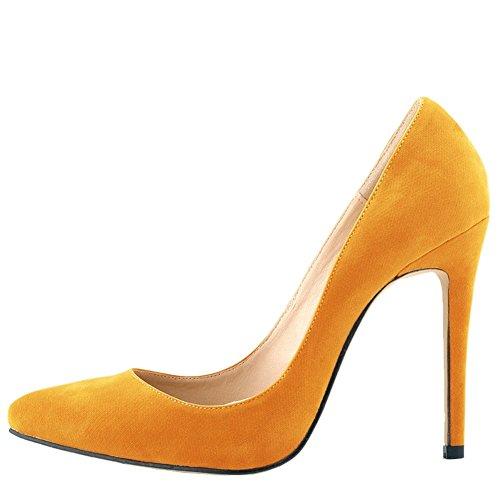 de un banquete colores tacon terciopelo zapatos de muchos de OCHENTA Mujer de en Naranja boda txYvxqz