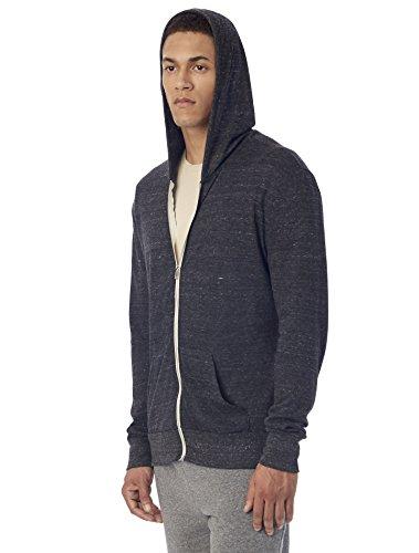 Alternative+Men%27s+Eco+Zip+Hoodie+Sweatshirt%2C+Eco+Black%2C+Large