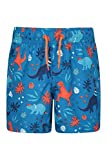 Mountain Warehouse Patterned Boys Boardshorts - Easy Care Kids Swim Shorts, Lightweight Beach Shorts, 2 Cargo Pockets with Adjustable Waist -for Swimming, Surfing & Pool Orange 7-8 Years